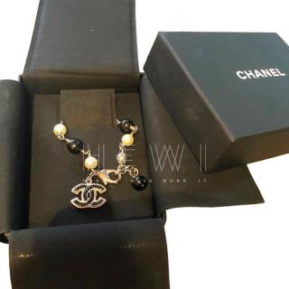 Chanel Silver Tone Charm Bracelet