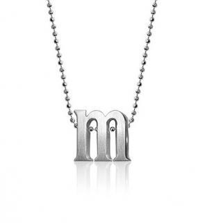 Alex Woo 'M' Pendant Necklace