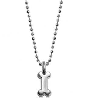 Alex Woo Mini Dog Bone Pendant Necklace