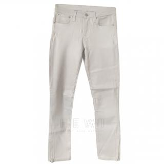 Helmut Lang Ankle Zip High Gloss Jeans