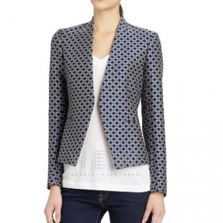 Theory stretch-wool geometric jacket