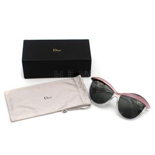 Dior Demoiselle 2 Black & Pink Crystal Sunglasses