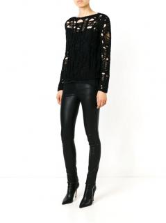 Saint Laurent Distressed Open Knit Jumper