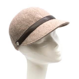 Hermes Lambskin-Trimmed Woven Cashmere Cap