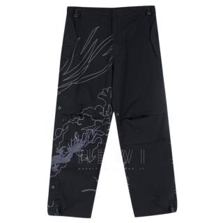 Maharishi Black Dragon Embroidered Cargo Pants