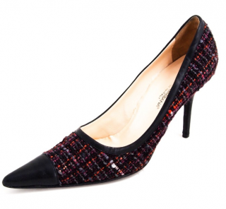 Dolce & Gabbana Point Toe Tweed Pumps