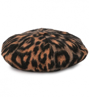 Sonia Rykiel Leopard Print Beret - New Season