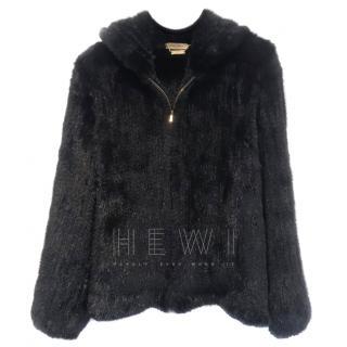 Marina Rinaldi Mink Fur Hooded Jacket