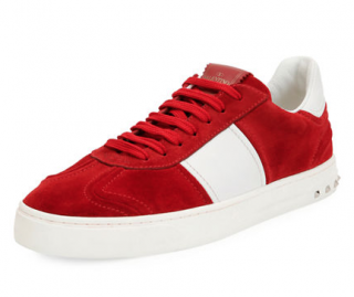 Valentino Garavani Fly Suede Low-Top Sneaker