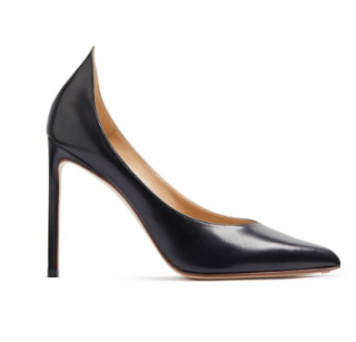 Francesco Russo High Vamp Leather Pumps