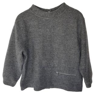 Marc by Marc Jacobs Grey Wool Short Jumper