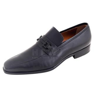 Moreschi Black Men's Leather Loafers