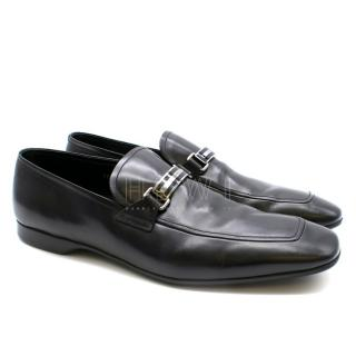 Prada Black Men's Leather Loafers
