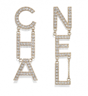 Chanel Crystal Letter Logo Earrings - Sold Out