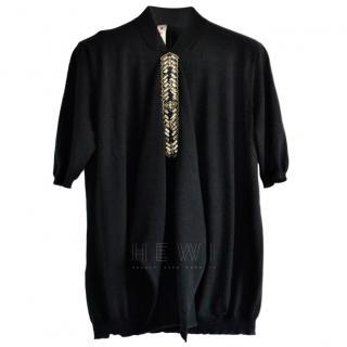 Marni black embellished cashmere jumper
