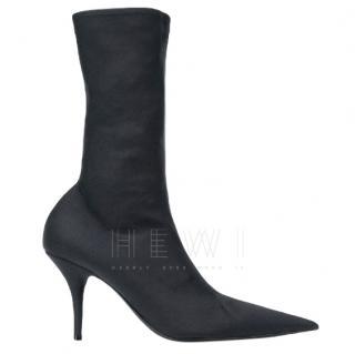 Balenciaga Black Stretch Sock Boots