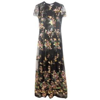 Savin Embroidered Floral Gown