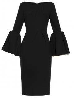 Roksanda Margot bell-sleeve cady dress