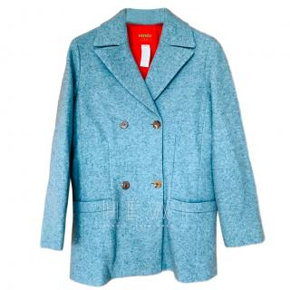 Kenzo Duck Egg Blue Wool Jacket