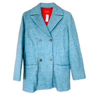 Kenzo Duck Egg Blue Wool Jacket