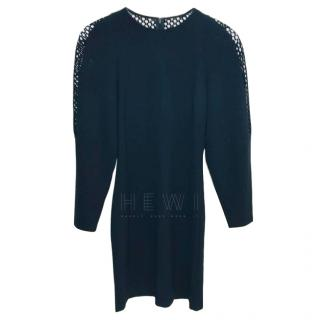 Stella McCartney Black Mesh Paneled Mini Dress