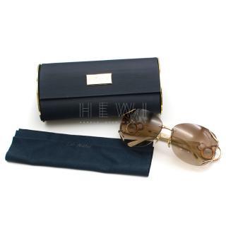 Chopard Floating Diamonds Ivory & Gold Sunglasses