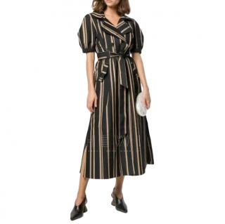Self-Portrait tailored striped dress