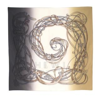 Gucci Ombre Chain Strap Print Silk Scarf