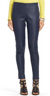 Christian Dior Navy Leather Pants