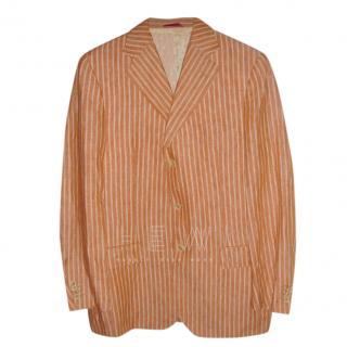Pal Zileri Orange Striped Blazer