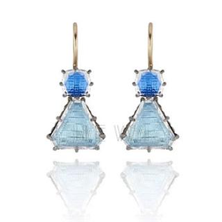 Larkspur Hawk Caterina Geometric One-Drop Earrings