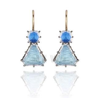 Larkspur Hawk Caterina Geometric One-Drop Earrings