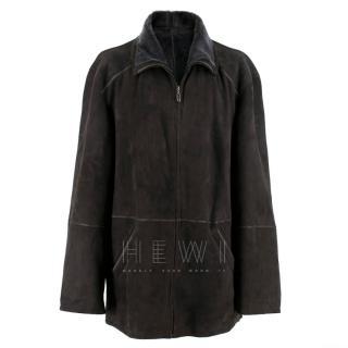 KOC Shearling & Suede Coat