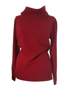 Max Mara Roll Neck Red Jumper