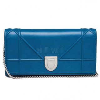 Dior Blue Diorama Wallet On Chain