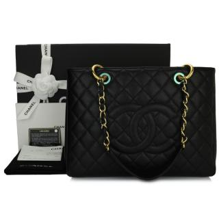 CHANEL Black Caviar Grand Shopping Tote (GST)