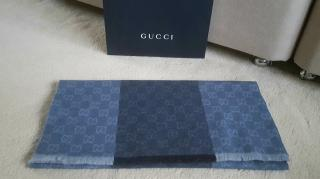 Gucci Grey Guccissima Wool Scarf