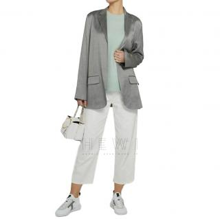 Theory Deconstructed Silver Open Blazer
