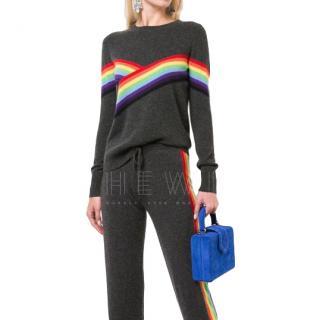 Madeleine Thompson Grey Cashmere Bebe Sweater