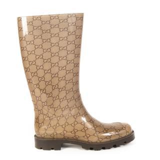 Gucci Monogram Rubber Rain Boots