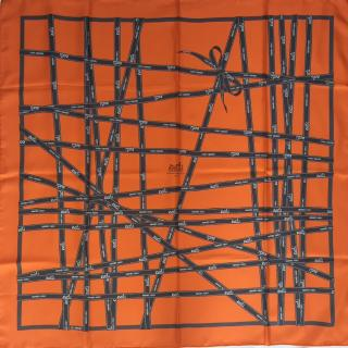 Hermes Bolduc Silk Scarf 90