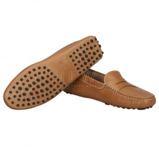Tod's Tan Gommino Driving Loafers
