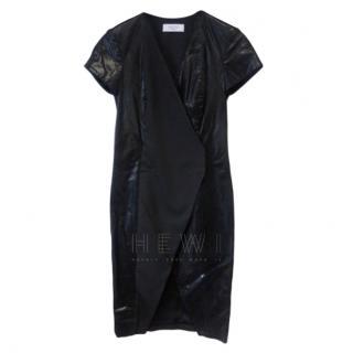 Savin London Black Fitted Mini Dress