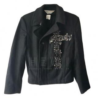 Comme Des Garcons Wool Safety Pin Embellished Jacket