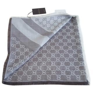 Gucci GG Guccissima Wool & Silk Blend Scarf