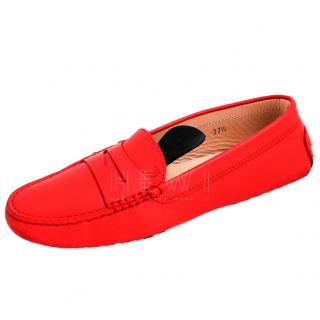 Tod's Red Gommino Driving Loafers
