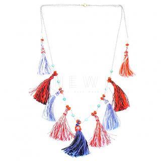 Vicki Sarge oaybidah tassel & bead necklace