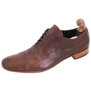 Prada Men's Cap Toe Oxford Brogues