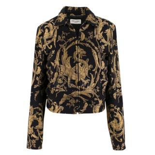 Saint Laurent Black & Gold Brocade Jacket
