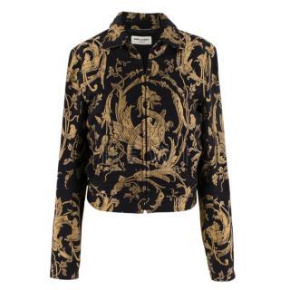 Saint Laurent Black & Gold Brocade Jacket